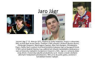 Jaro  Jágr
