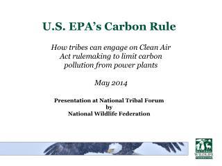 U.S. EPA's Carbon Rule