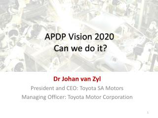 APDP Vision 2020  Can we do it?