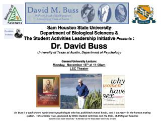 Sam Houston State University Department of Biological  Sciences &