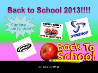 Back to School 2013!!!!