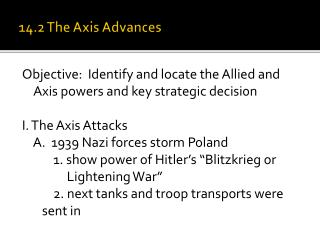 14.2 The Axis Advances