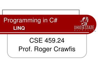 Programming in C# LINQ