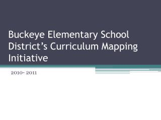 Buckeye Elementary School District's Curriculum Mapping Initiative