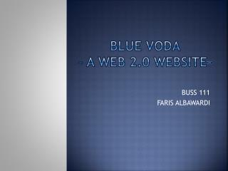 Blue  VoDA – a web 2.0 website-