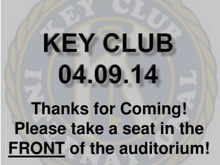 Key Club 04.09.14
