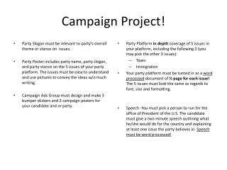 Campaign Project!