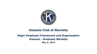 Kiwanis Club of Marietta Major Emphasis Framework and Organization Kiwanis - Graduate  Marietta