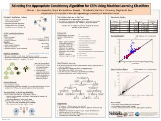 Selecting the Appropriate Consistency Algorithm for CSPs Using Machine Learning Classi?ers