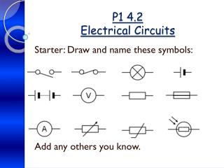 P1 4.2 Electrical Circuits
