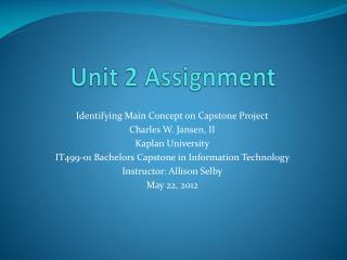 Unit 2 Assignment
