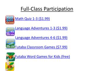 Full-Class Participation