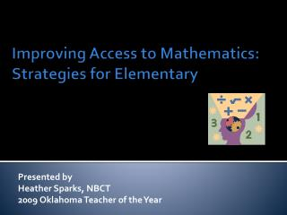 Improving Access to Mathematics:  Strategies for Elementary