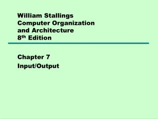 William Stallings  Computer Organization  and Architecture 8th Edition