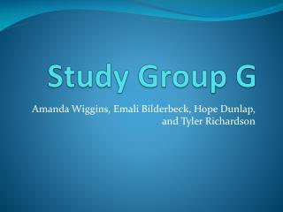 Study Group  G