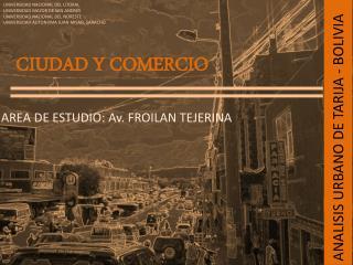 ANALISIS URBANO DE TARIJA - BOLIVIA