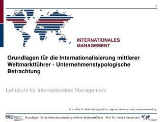 Lehrstuhl für Internationales Management