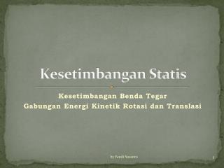 Kesetimbangan Statis