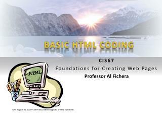 BASIC HTML CODING