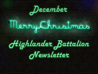 Highlander Battalion Newsletter