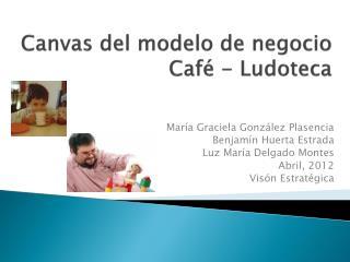 Canvas del  modelo  de  negocio Café -  Ludoteca