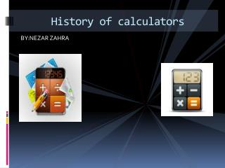 History of calculators
