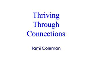 Thriving  Through  Connections