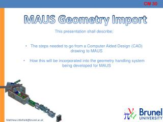 MAUS Geometry Import