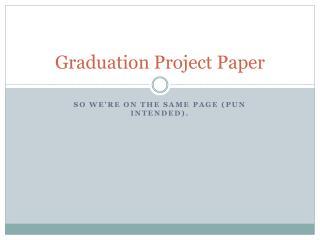 Graduation Project Paper