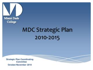 MDC Strategic Plan  2010-2015