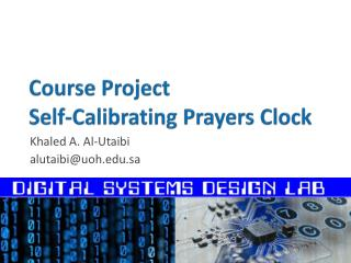 Course Project Self-Calibrating  Prayers Clock