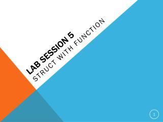 LAB SESSION  5