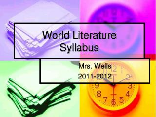 World Literature Syllabus
