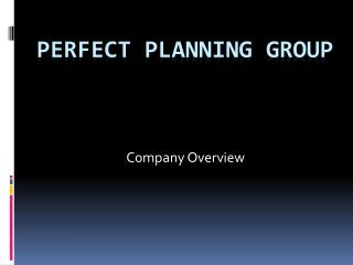Perfect Planning Group