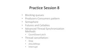 Practice Session 8