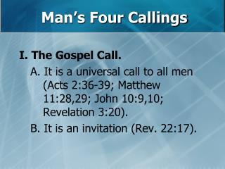 Man's Four Callings