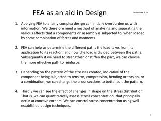FEA as an aid in Design