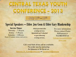 Central Texas Youth  Conference -  2013