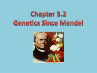 Chapter 5.2 Genetics Since Mendel