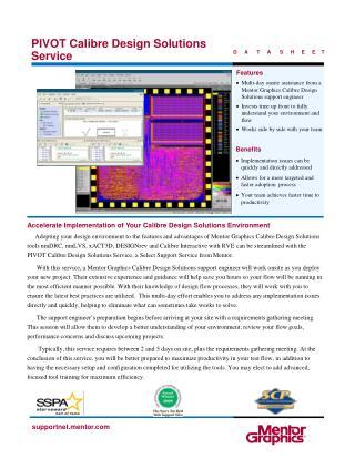 PIVOT Calibre Design Solutions Service