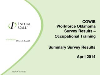 COWIB Workforce Oklahoma Survey Results – Occupational Training
