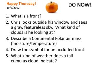 Happy Thursday! 10/3/2012
