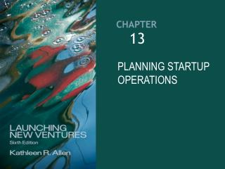 PLANNING STARTUP OPERATIONS