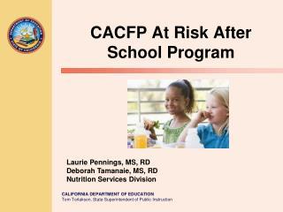 CACFP At Risk After School Program