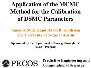 Application of the MCMC Method for the Calibration of DSMC Parameters