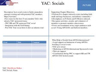 YAC: Socials