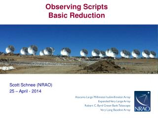 Observing Scripts Basic Reduction
