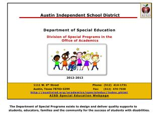 Differentiated Special Education Support ... for  CAMPUSES!   [it's not just for kids anymore]