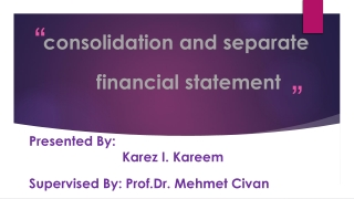 IAS 27 - Consolidated and Separate Financial Statements