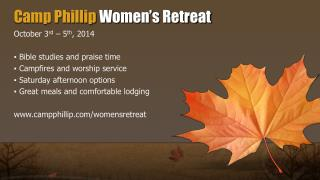 Camp Phillip Women's Retreat